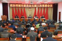 市政协召开第五届委员会第三次常务委员会议
