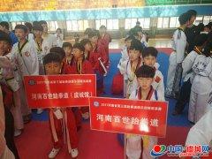百世跆拳道(虞城馆)在省级比赛中摘二金六银