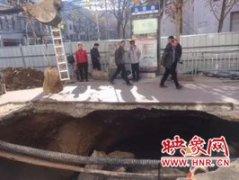郑州友爱路塌方已修复 禁行半个多月的友爱路恢复通行