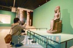 """""""金字塔·不朽之宫""""古埃及文物展河南博物院展出 想知道距今2000多年的木乃伊胸口为什么放甲虫?"""