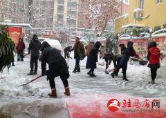 驿城区人民街道迅速开展大雪应急行动