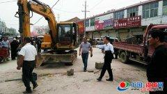 沙集乡开展镇区街道跨路市场专项整治
