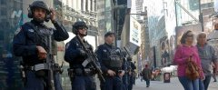 两党候选人同城庆祝大选投票日 纽约警方严阵以待