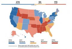 "FBI""放行""后 希拉里预测得票超过当选门槛"