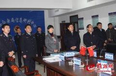 吴海燕到县公安局调研指导工作