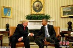 当选总统特朗普与奥巴马举行首次白宫会晤(图)