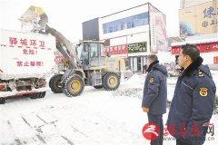 驿城区城市管理局铲冰除雪保畅通