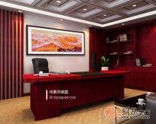 长城山水画适合挂客厅还是办公室?