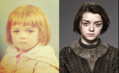 冰与火之歌主角们幼时照片 斯诺马王很萌龙母美