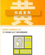 郑州发布重污染天气黄色预警 预计正月初三污染情况缓解