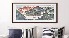 客厅沙发墙挂画怎么选?