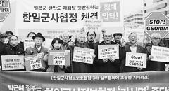 韩助力美日打造三角同盟 民众抗议对日卖国协定