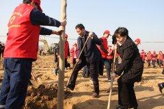 王富生带领市四大班子领导义务植树