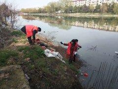 赤城办事处:春风送暖日 清理河道忙
