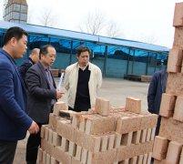 周口市国土局局长申奇一行到我市督导新型墙体材料企业整治工作