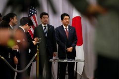 日本首相安倍与特朗普会谈:具体内容不便透露