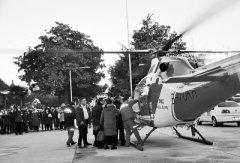女童5楼坠地急需转到郑州 医院派直升机营救