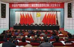 中共西华县第十三届纪律检查委员会第三次全体会议召开