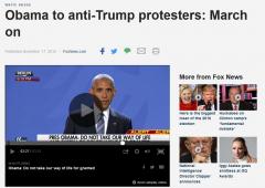 奥巴马告别之旅鼓励反特朗普示威者:别沉默