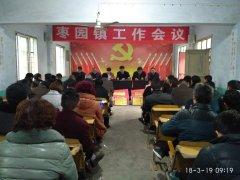镇平县枣园镇召开2018年经济工作会