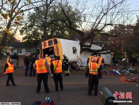 当地时间11月21日,美国田纳西州查塔努加发生校车事故,导致12人死亡。