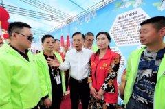 县长马同和慰问梨花节安全志愿者