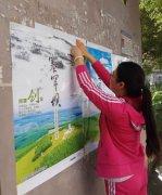 团区委五项建设工作队与社区工作人员一起开展生态文明建设宣传活动