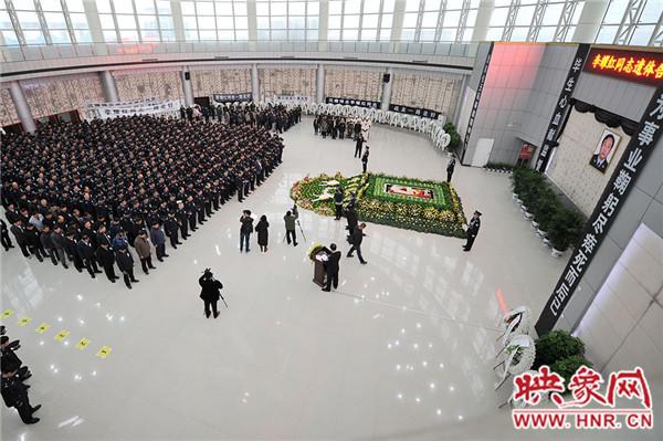郑州市第三看守所管教民警李耀红遗体告别仪式