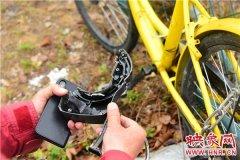 郑州一公园内7辆共享单车锁被砸 市民指责太自私