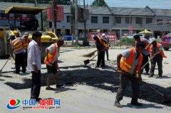 虞城农管所积极修复公路病害