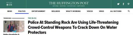 赫芬顿邮报:警方在镇压示威者时使用危及生命的武器