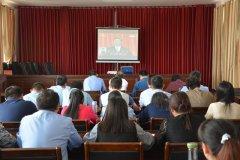 商城县食药监局认真组织收看马克思诞辰200周年纪念大会