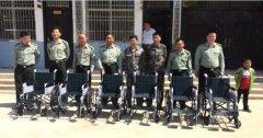 县武装部向杨集乡因残致贫群众发放轮椅