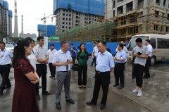 王雅伟主任带队调研 北部商业中心重点项目建设并现场办公