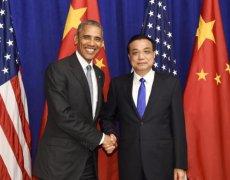 李克强会见美国总统奥巴马
