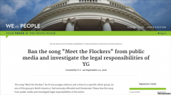 华人请愿禁传播歌曲《遇见劫匪》 白宫回应
