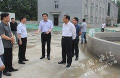 市委常委、统战部长蒋志安到马沟污水处理厂调研指导工作