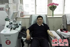 【大爱郑州・热血之城】③18年献血100次 医生荆长有:为献血保持健康生活状态