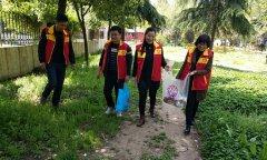 """县农技总站组织开展 """"爱护环境、从我 做起"""" 志愿者服务活动"""