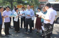市长刘尚进到源汇区辖区督导民生实事进展情况