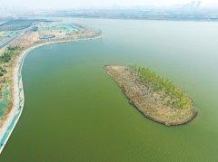 八百多亩圃田泽现郑州东五环旁 将是郑州环城生态水系循环工程起点