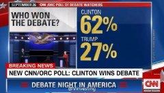 直击美国大选首场辩论:特朗普希拉里尖锐交锋