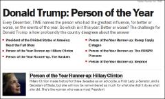 特朗普获年度人物:美利坚分裂国总统