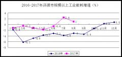 1-8月济源市规模以上工业能耗小幅上升