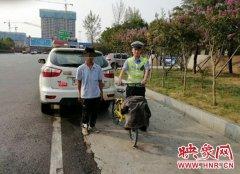 """一男子骑共享单车高速逆行 只为抄""""近道""""见朋友"""