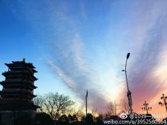 北京朝霞映天 网友:没有早起的朋友们亏了(图)