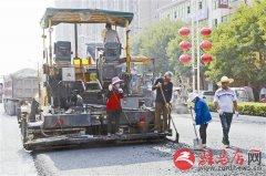 解放大道道路升级改造工程紧张施工