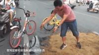 郑州路面突现大片油污 公交调度员与车长联手清理