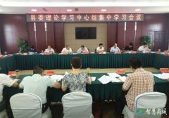 县委理论学习中心组开展第八次集中学习