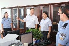 市长刘尚进带领市直相关部门负责同志到市公安局现场办公